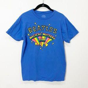 Beatles blue graphic band tee shirt